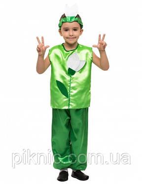 Костюм Подснежник для мальчика 4,5,6,7,8,9 лет. Детский карнавальный костюм на праздник Весны Пролісок, фото 2