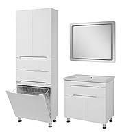 Комплект мебели для ванной комнаты Симпл 80 с умывальником Комо 80 + пенал Симпл 60 с корзиной