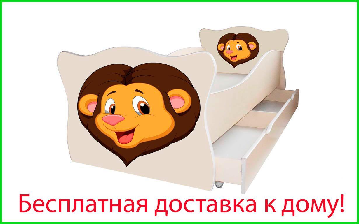 ✅Ліжко дитяче Animal з ящиком 70х140 см ТМ Viorina-Deko