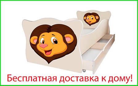 ✅Ліжко дитяче Animal з ящиком 70х140 см ТМ Viorina-Deko, фото 2
