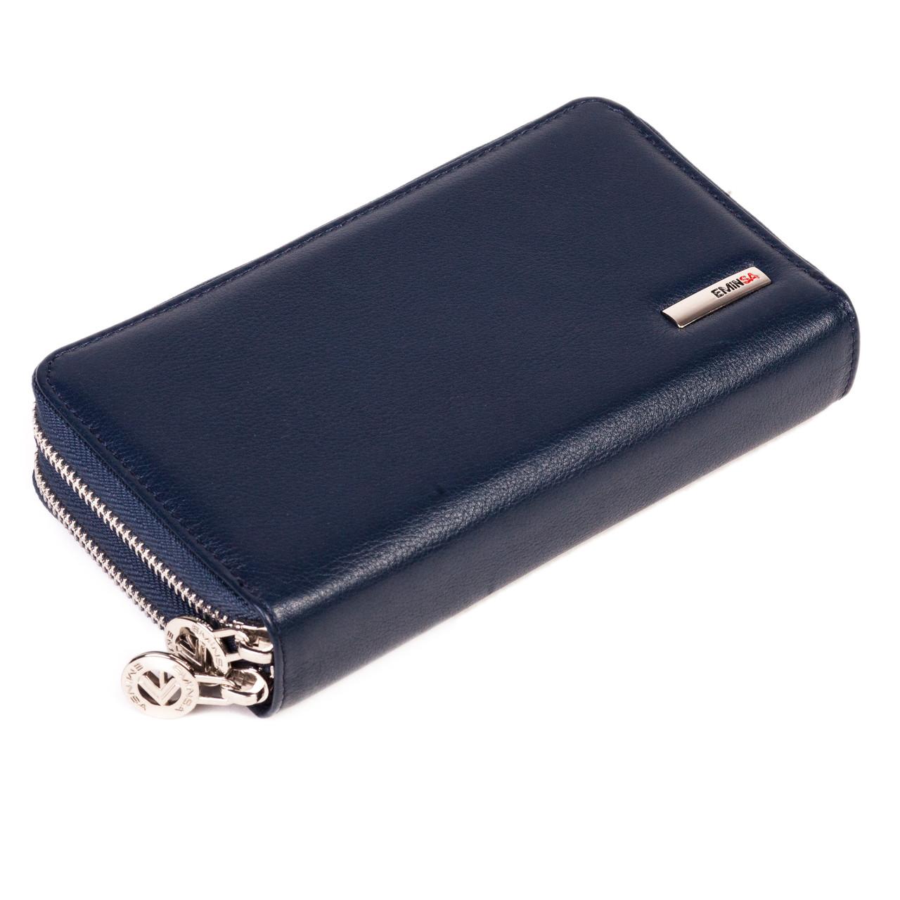 Женский кошелек-клатч Eminsa 2095-12-19 кожаный синий