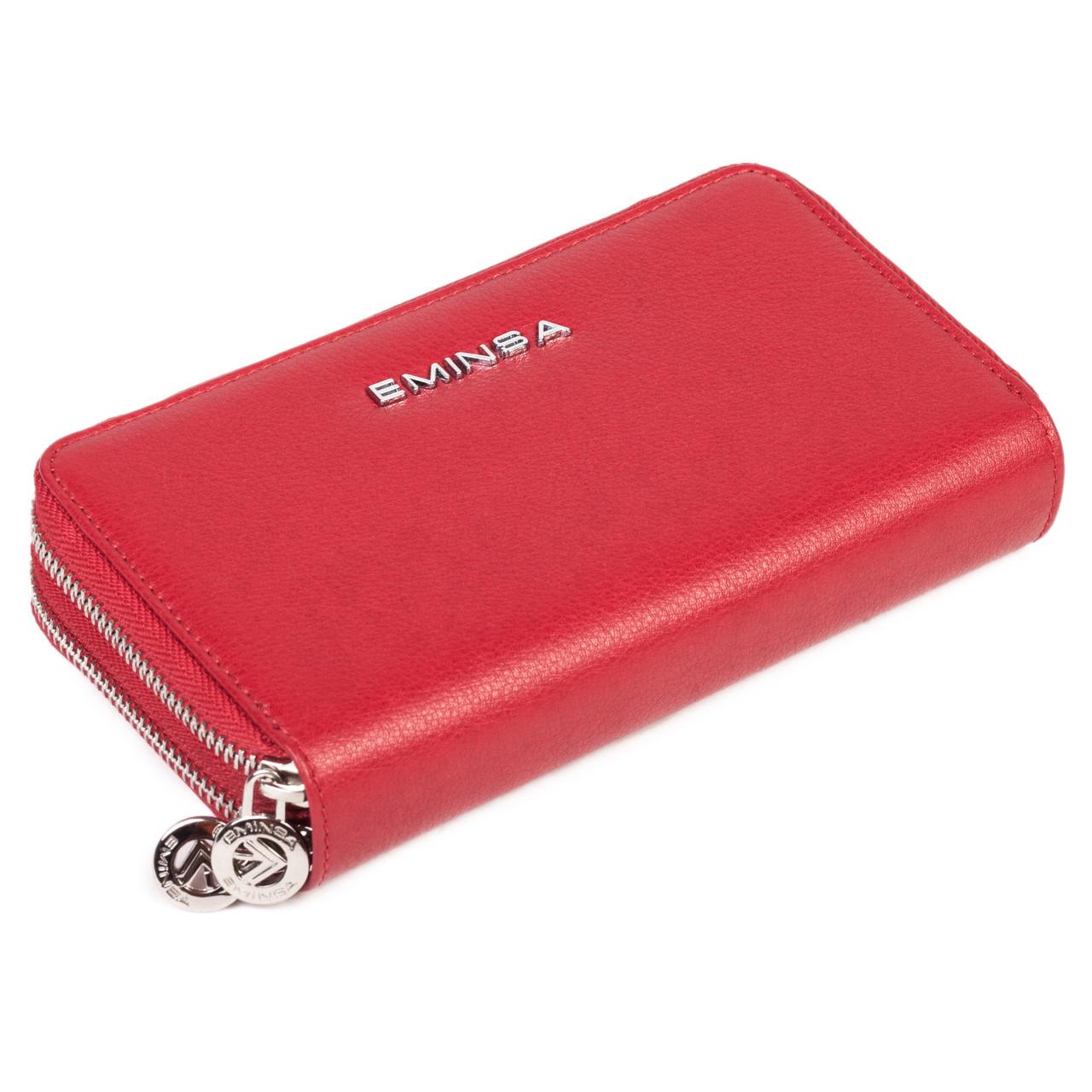 Женский кошелек-клатч Eminsa 2095-12-5 кожаный красный