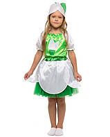 Костюм Подснежник для девочки 4-9 лет. Детский карнавальный костюм на праздник Весны. Пролісок 341