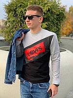 Мужской свитшот LEVI'S (светло серый / черный)