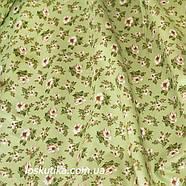 42013 В деревенском стиле (зеленый). Хлопковая ткань для летнего платья и для изготовления кукол и поделок., фото 2