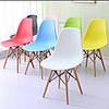 Стул пластиковый на деревянных ножках цвет Трилистник в современном стиле Nik для баров, кафе, ресторанов, фото 3