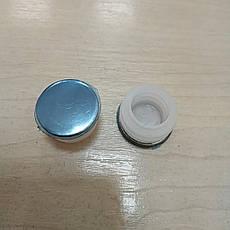 Заглушка внутренняя круглая 25 ХРОМ, фото 2