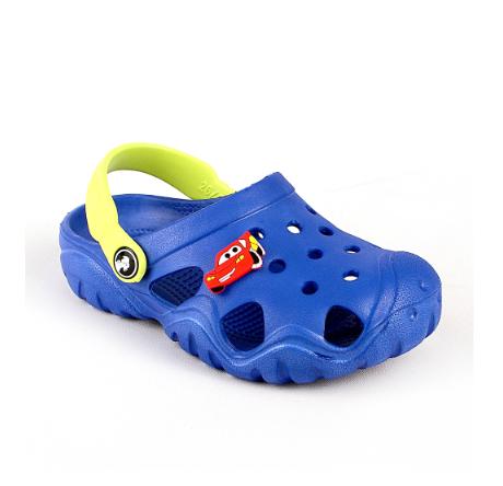 Детские кроксы синие ( Код:117071 JA синий )