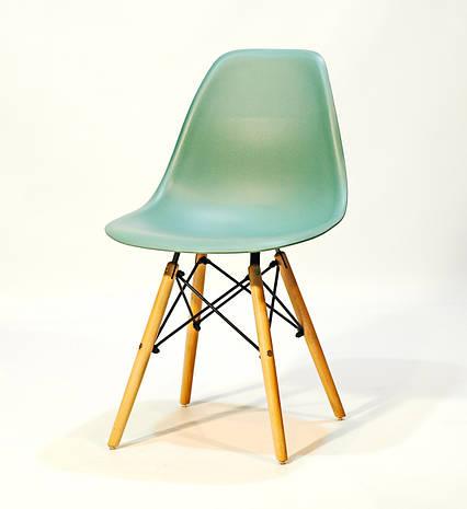 Стул пластиковый на деревянных ножках цвет Трилистник в современном стиле Nik для баров, кафе, ресторанов, фото 2
