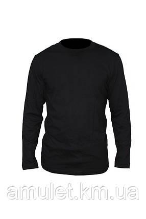Чоловіча Футболка З Довгим Рукавом Premium чорна, фото 2