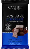 Черный шоколад Cachet Dark 70%, 300 гр.