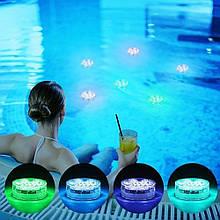 Світлодіодна підсвітка RGB для акваріумів, фонтанів, водойм, кальянів 10 LED з пультом