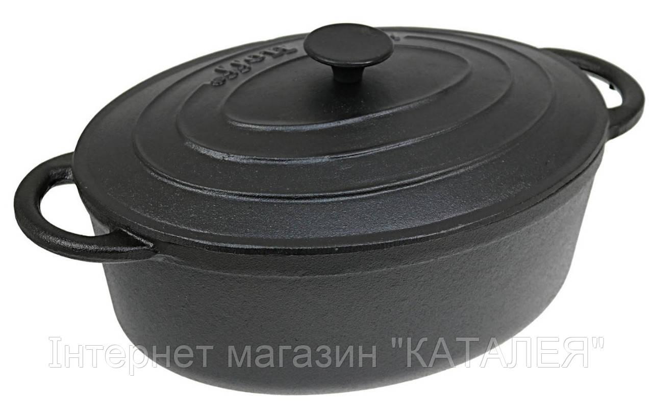 Гусятниця чавунна з кришкою KingHoff KH 2255 3,9 л