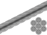 Трос нержавеющий DIN 3060 (7x19) А4