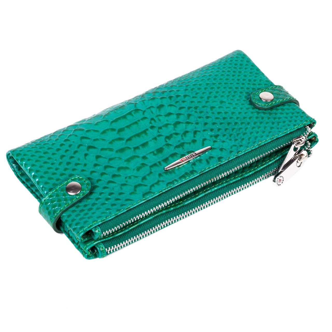 Женский кошелек Eminsa 2117-21-27 кожаный зеленый