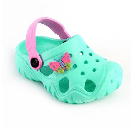 Детские кроксы синие ( Код:117076 JA бирюза )