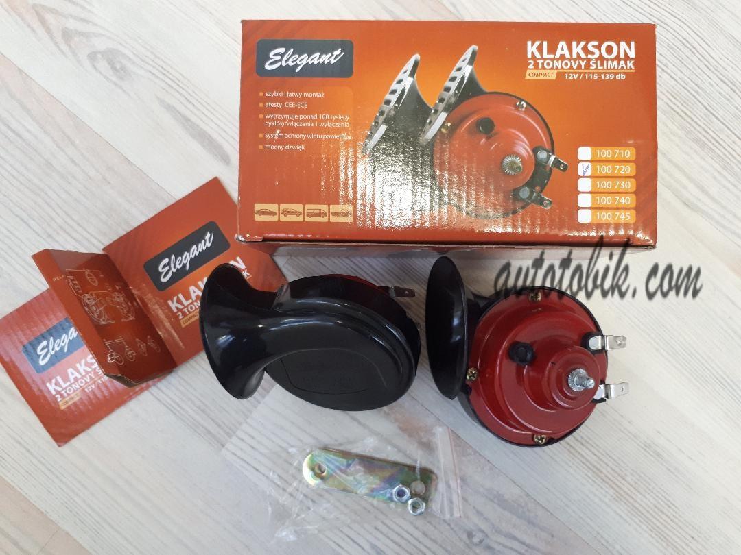 Звуковой сигнал автомобильный Улитка двухтоновый Elegant Compact 12V EL 100 720