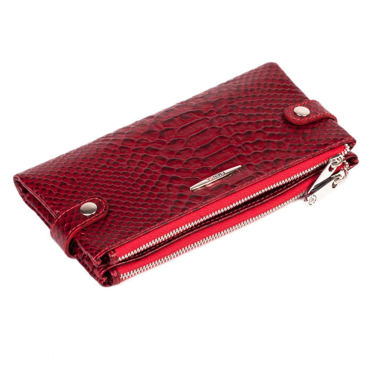 Женский кошелек Eminsa 2117-21-5 кожаный красный