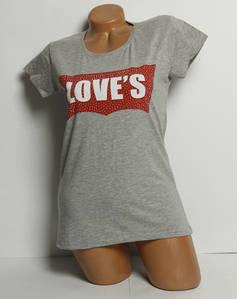 Футболка жіноча love's gray Туреччина розмір M