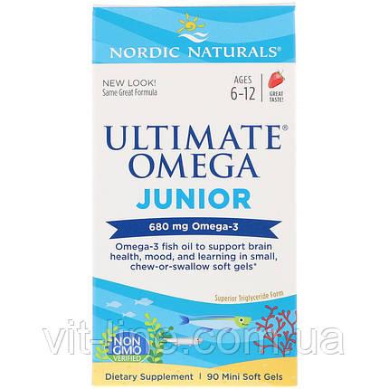Nordic Naturals, Ultimate Omega, Junior, 680 мг, 90 жеательных таблеток в мягкой оболочке , фото 2