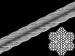 Трос нержавейка 10 mm (7x19) DIN 3060  А4 (100 м)
