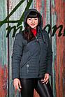 Весенняя женская куртка больших размеров - модель 2019 - (кт-423), фото 6