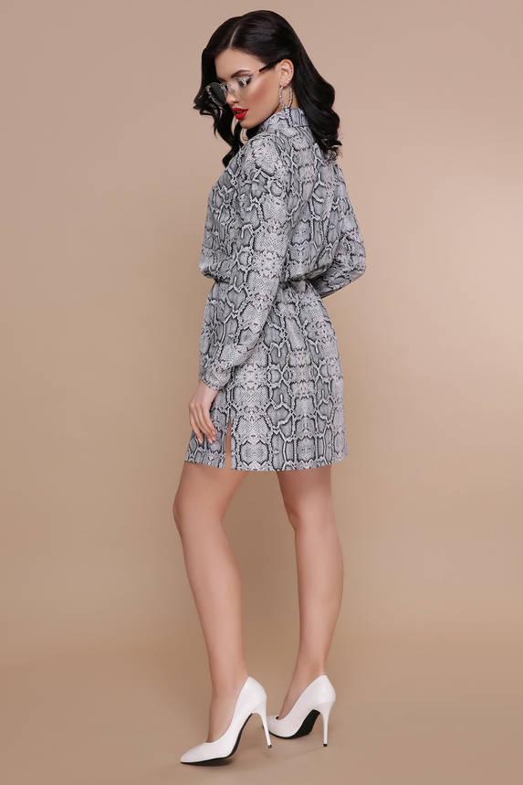 """Платье рубашка с принтом """"Питон"""", фото 2"""
