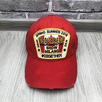 Модная бейсболка Dsquared2 красная унисекс хлопковая мужская женская кепка коттон Дискваред люкс реплика