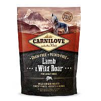 Сухой корм для взрослых собак всех пород Carnilove Dog Adult Lamb & WildBoar с ягненком и диким кабаном 1.5 кг