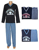 Комплект мужской для сна и дома / пижама с брюками/ 19020 Tommy Dark Blue коттон, р.р.42-60