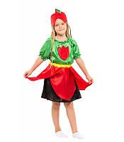 Костюм Тюльпан для девочки 4-9 лет. Детский карнавальный костюм на праздник Весны