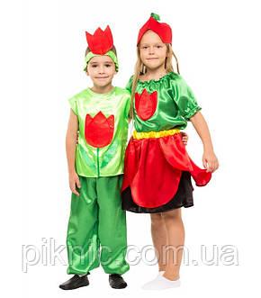 Костюм Тюльпан для девочки 4-9 лет. Детский карнавальный костюм на праздник Весны 341, фото 2
