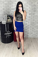 Юбка женская синяя WHY BEE 2674, фото 1