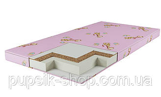 Матрас детский КП 7 см (кокос-поролон) розовый
