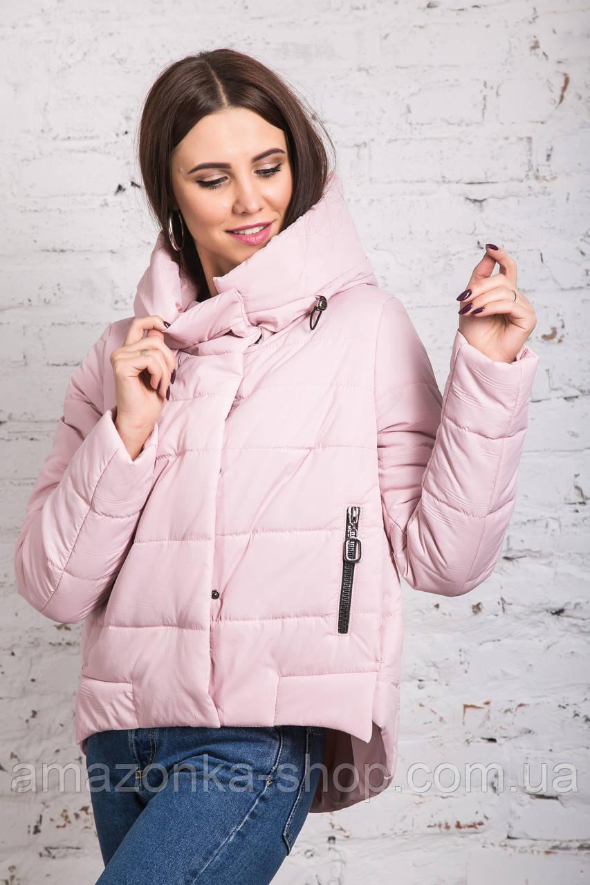 Стильная женская куртка с капюшоном - модель 2019 - (кт-454)