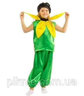 Костюм Подсолнух для мальчика 4,5,6,7,8,9 лет. Детский карнавальный костюм на праздник Весны. Соняшник, фото 2