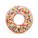 Надувной круг Intex 56263 Пончик с присыпкой 114 см, фото 2