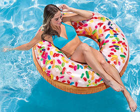 Надувной круг Intex 56263 Пончик с присыпкой 114 см