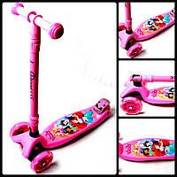 Самокат Maxi Disney. Pink. Princess. Складная ручка., фото 1