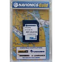 """Карта """"""""Днепр, Средиземное и Черное море (код 43XG)"""""""" NAVIONICS GOLD для Lowrance, Eagle, Humminbird"""