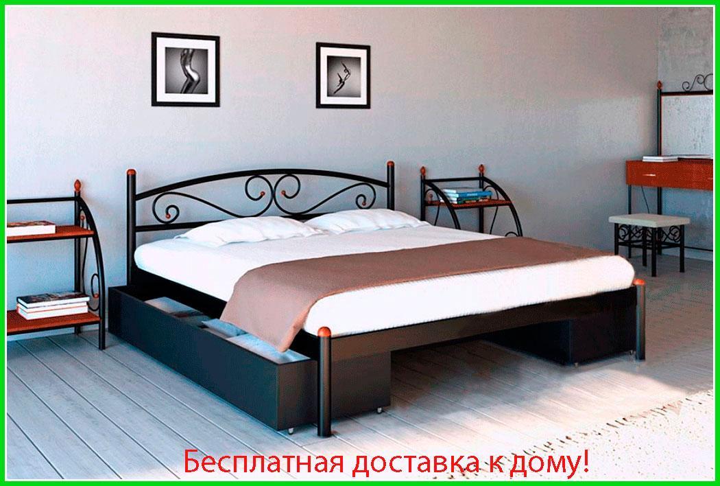 ✅Металлическая кровать Вероника 80х190 см ТМ Металл-Дизайн