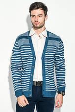 Кардиган мужской комбинация узоров 50PD13508 (Сине-серый), фото 2