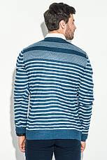 Кардиган мужской комбинация узоров 50PD13508 (Сине-серый), фото 3