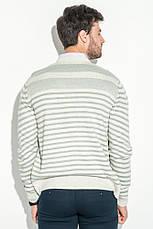 Кардиган мужской комбинация узоров 50PD13508 (Светло-серый меланж), фото 2