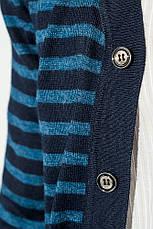 Кардиган мужской комбинация узоров 50PD13508 (Темно-синий), фото 2