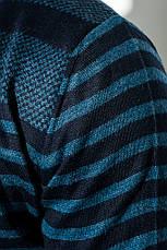 Кардиган мужской комбинация узоров 50PD13508 (Темно-синий), фото 3