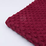 Плюш minky цвет бордо М-11135, фото 6