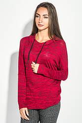 Худи женское стильное 64PD158 (Красный меланж)