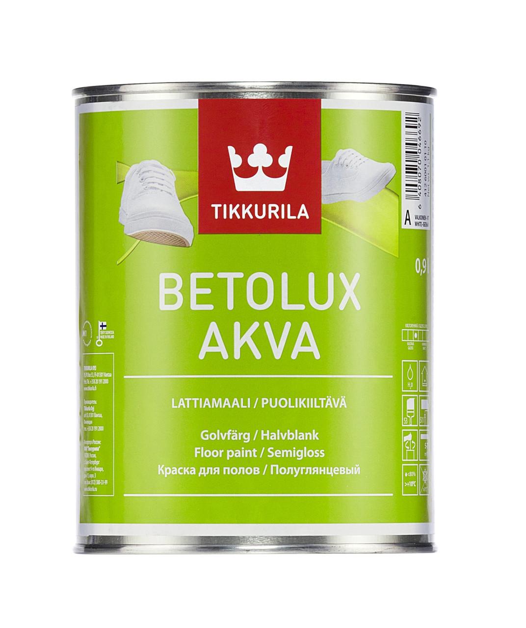 Фарба для підлоги Tikkurila Betolux Akva 0.9л(A)