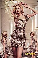 Леопардовое мини-платье S/M